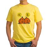 Halloween Daddys Home Pumpkins Yellow T-Shirt
