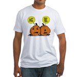 Halloween Daddys Home Pumpkins Fitted T-Shirt