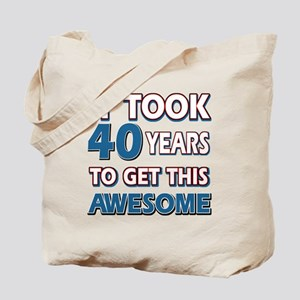40 Year Old birthday gift ideas Tote Bag