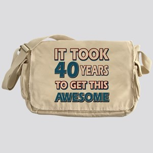 40 Year Old birthday gift ideas Messenger Bag