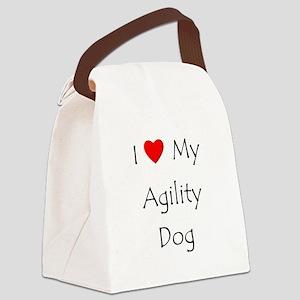 I Love My Agility Dog Canvas Lunch Bag