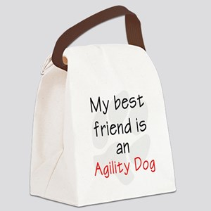 My Best Friend is an Agility Dog Canvas Lunch Bag