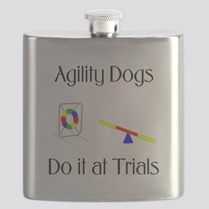 Agility Dogs do it at Trials Flask