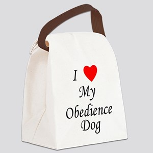 I Love My Obedience Dog Canvas Lunch Bag