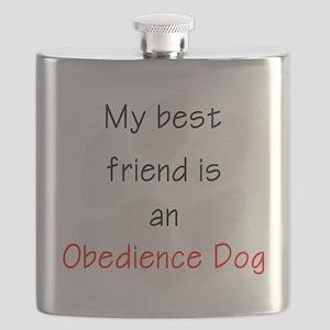 My Best Friend is an Obedience Dog Flask