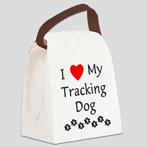 lovemytrackingdog Canvas Lunch Bag