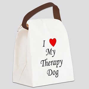 lovemytherapydog Canvas Lunch Bag