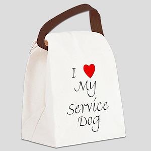 lovemyservicedog Canvas Lunch Bag