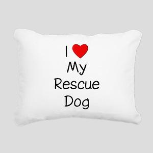 lovemyrescuedog Rectangular Canvas Pillow