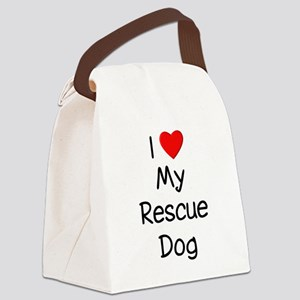 lovemyrescuedog Canvas Lunch Bag
