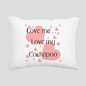 cockapooloveme Rectangular Canvas Pillow