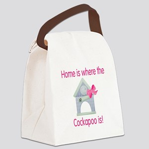 cockapoohome2 Canvas Lunch Bag