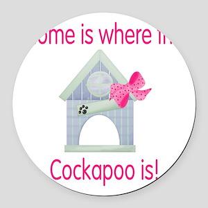 cockapoohome2 Round Car Magnet