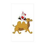 Camel Rodeo Santa Sticker (Rectangle 10 pk)