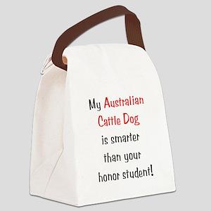 smarteracdog10 Canvas Lunch Bag