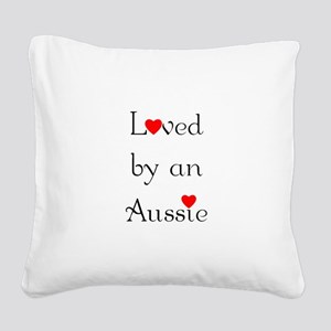 lovedaussie Square Canvas Pillow