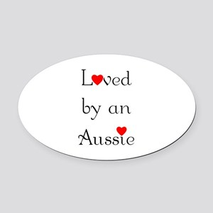 lovedaussie Oval Car Magnet