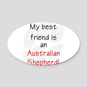 bestfriendashep Oval Car Magnet