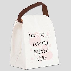 lovemebearded Canvas Lunch Bag