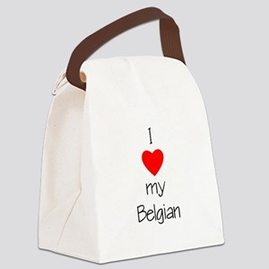 lovemybelgian Canvas Lunch Bag