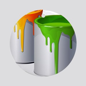 Paint Cans Ornament (Round)
