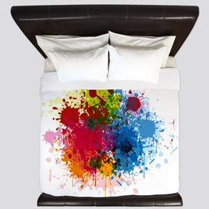 Abstract Paint King Duvet