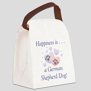 happinessgermanshep Canvas Lunch Bag