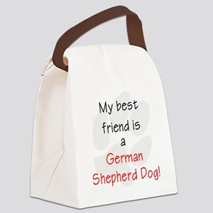 bestfriendgermanshep Canvas Lunch Bag