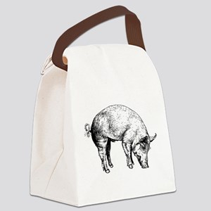 Piggy Canvas Lunch Bag