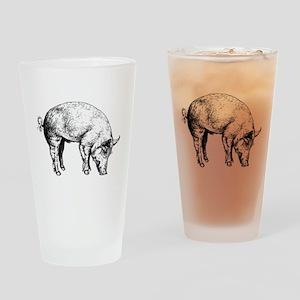 Piggy Drinking Glass