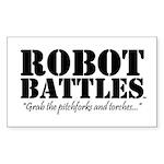 Robot Battles  Sticker (Rectangle 10 pk)