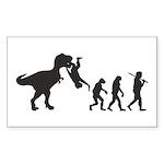 Man Evolution Sticker (Rectangle 50 pk)