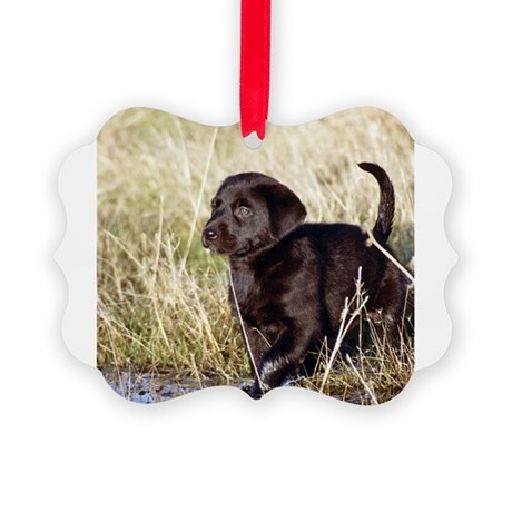 labpuppytile4.png Picture Ornament