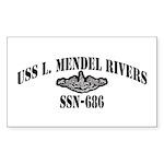 USS L. MENDEL RIVERS Sticker (Rectangle 50 pk)