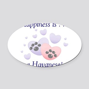 happinesshavanese Oval Car Magnet