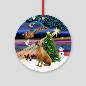 Xmas Magic & Rhodesian Ridgeback Ornament (Round)