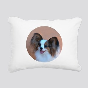Sable Papillon Head Rectangular Canvas Pillow