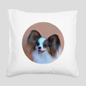 Sable Papillon Head Square Canvas Pillow