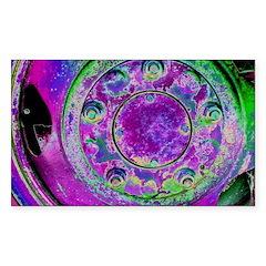 Purple Green Wheel Sticker (Rectangle 10 pk)