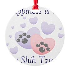 happinessshihtzu Round Ornament