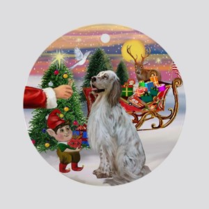 Santa's Treat & English Setter Ornament (Round)