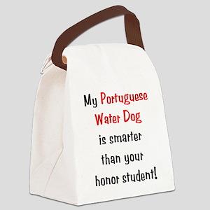 portuguesewaterdog-smarter10 Canvas Lunch Bag