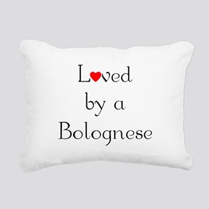 bologneseloved Rectangular Canvas Pillow