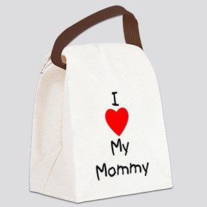 I love my mommy Canvas Lunch Bag