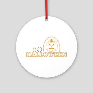 I Heart Halloween Ornament (Round)