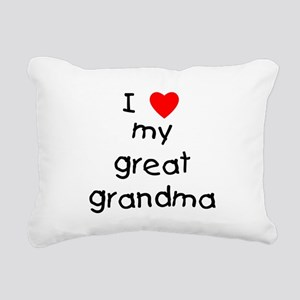 I love my great grandma Rectangular Canvas Pillow