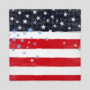 Patriotic Stars and Stripes Queen Duvet