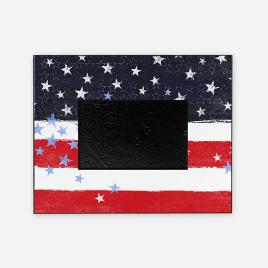 Patriotic Stars and Stripes Picture Frame