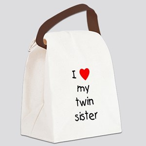 lovemytwinsis Canvas Lunch Bag