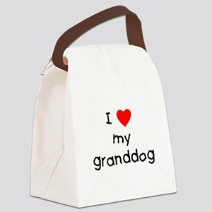 I love my granddog Canvas Lunch Bag